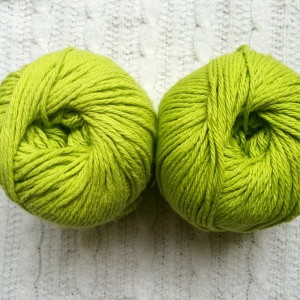 Two skeins of same brand and color, different dyelot.